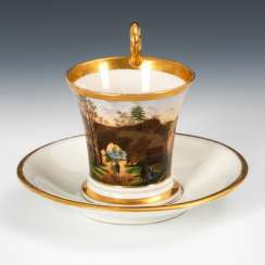 Cup with landscape painting, NYMPHENBU