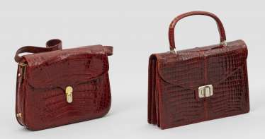 Two extravagant vintage handbags