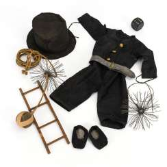 Doll clothes and accessories for a chimney sweep