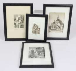 4 small graphics signed