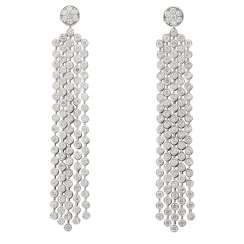Earrings with diamonds, total approx. 7.3 ct (hallmarked)