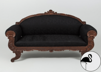 Antique sofa of XX century