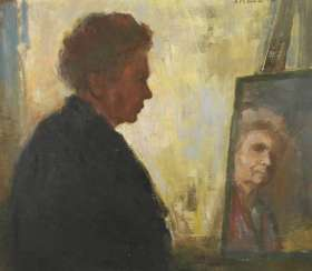 Hildegard Marion Böhme, self-portrait with mirror