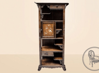 Antique showcase of the NINETEENTH century