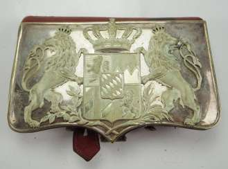 Bavaria: Cavalry cartridge box, for officers.