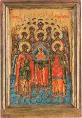 LARGE-FORMAT ICON WITH THE SYNAXIS OF THE ARCHANGEL