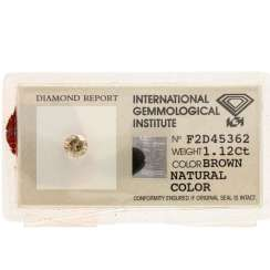 Loser Brillant Brown, 1,12 ct,