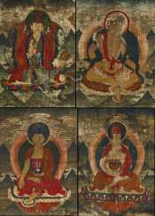 Rare series of four thangka with emanations of Padmasambhava (Guru Rinpoche)