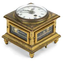 Horizontal table clock. Name Giuspe Garzoli Roma dat. 1792