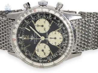 Watch: Breitling Navitimer Ref.806 with rare Breitling stainless steel bracelet, 60s