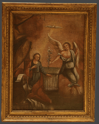 "Icon on the canvas. ""The Annunciation!."