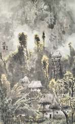 Wang Weibao (geb. 1942), attributed to a view of the village
