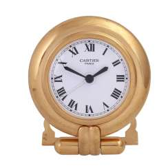 CARTIER Desk clock with alarm clock.