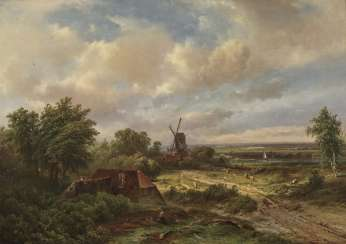 Pieter Lodewijk Francisco Kluyver, Dutch Landscape with a Windmill
