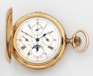 Gold man's pocket watch with Chronograph, Repetition