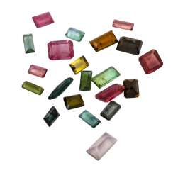 Mixed lot of 21 tourmalines totaling 20.3 ct,