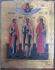 "Icon ""Saints Guri, Samon, Aviv"""