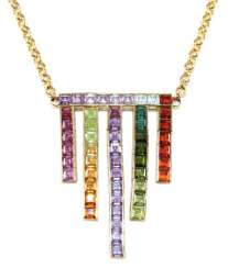 585 yellow gold Art Deco necklace.