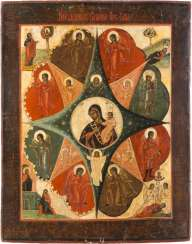 LARGE ICON OF THE MOTHER OF GOD 'NON-COMBUSTIBLE BUSH'