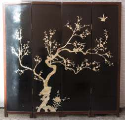 SCREEN 1, wood/mother-of-pearl, China, early 20. Century