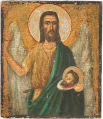 ICON WITH JOHN THE BAPTIST AS ANGEL OF THE DESERT