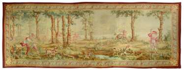 A LARGE NAPOLEON III AUBUSSON PICTORIAL TAPESTRY
