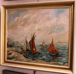 "The painting ""Sailboats"", XX century"
