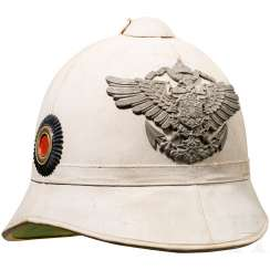 Pith helmet for members of the Imperial Navy/Seebataillone and the protection force in the colonies