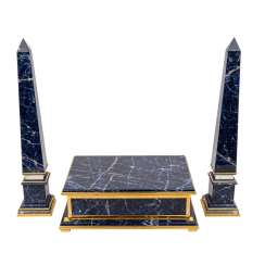 Set with two obelisks and a box, 20th century