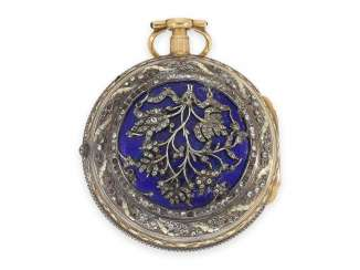Pocket watch: exceptional, great Italian Spindeluhr with Repetition a toc et a tact, Les Freres Lance Turin No. 451, CA. 1770