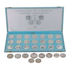 Collection of coins and medals, with SILVER -