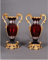 Vases pair France, 1830 - 1840 years