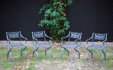 Set of four neo-classical chairs