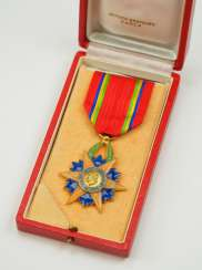 Gabon: order of the Equatorial star, knight's cross, in a case.