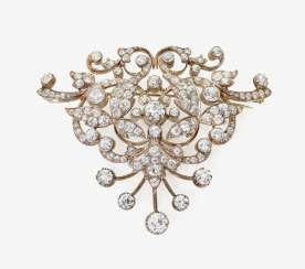 Brooch with old European cut diamonds. Germany, around 1895