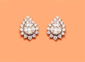Pair of very fine diamond earrings