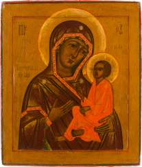 ICON WITH THE MOTHER OF GOD OF TICHVIN (TICHVINSKAJA) Russia