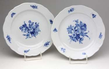 Meissen 2 Dinner Plate *Blue Flower*