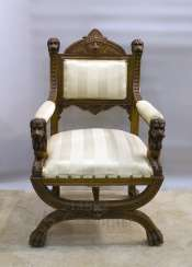 Antique chair with lions