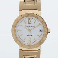 BULGARI ladies watch in yellow gold 18K. Automatic Plant.