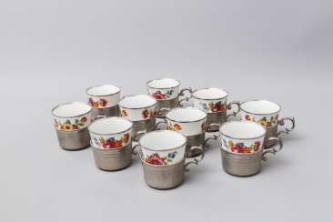 BAREUTHER WALDSASSEN 10 cups with tray, 20. Century