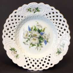 Breakthrough Dish: Meissen Porcelain. Decor winches with Foxglove. The gold edge.