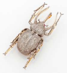 Russian Stag Beetle Brooch
