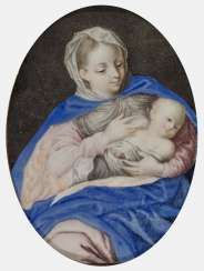 South German 17./18. Century, Maria with the child (Maria lactans).