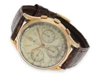 Watch: very rare and large Rolex Chronograph in 18K pink gold, No. 9788, probably 40 years