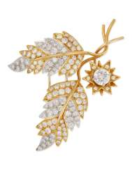 TIFFANY & CO. JEAN SCHLUMBERGER DIAMOND 'MARQUETRY BUDS' BROOCH