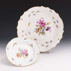 Vegetable plate and dinner plate