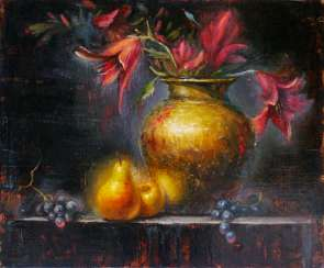 Still Life with Lilies and Pears