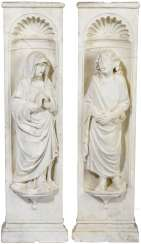 A rare Pair of Baroque depictions of saints, Italy, early 17th century. Century