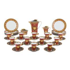 ROSENTHAL meets VERSACE coffee service for 12 persons 'Medusa', 20. Century.